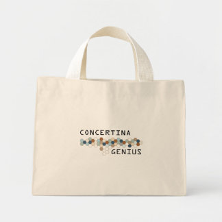Concertina Genius Mini Tote Bag