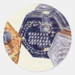 Concertina Round Sticker