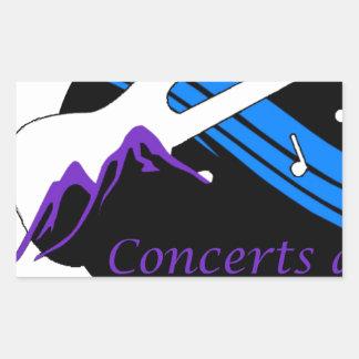 concerts at park city rectangular sticker