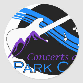 concerts at park city round sticker