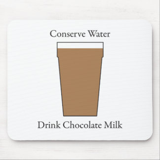 Concerve Water Drink Chocolate Milk Mouse Pad