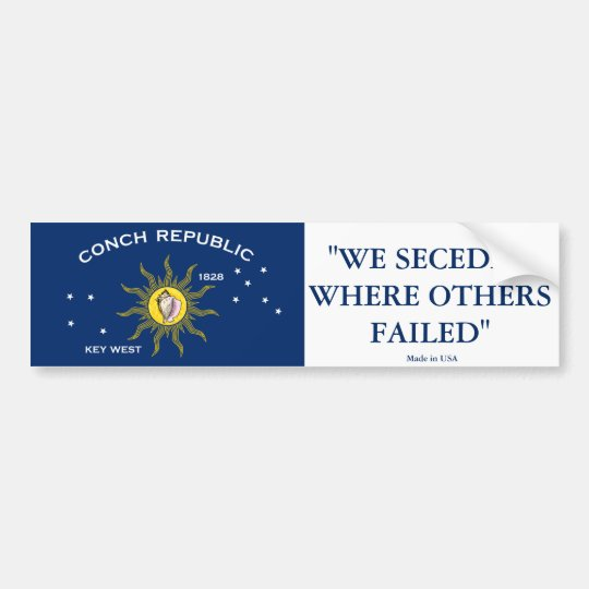 Conch Republic Bumper Sticker