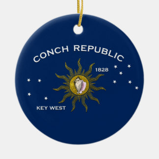 Conch Republic Key West Christmas Ornament