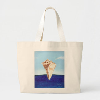 Conch Seashell and ocean beach canvas bags