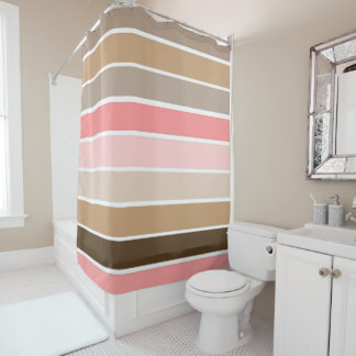 Conch Seashell Colors Shower Curtain