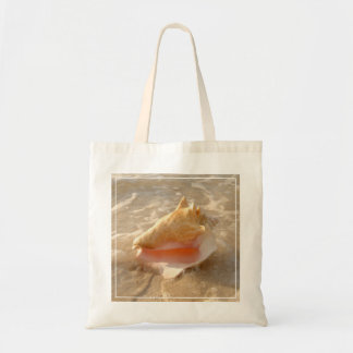 Conch Shell In Sand On Tropical Beach Tote Bag