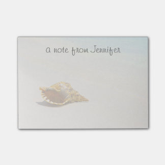 Conch Shell On Beach 3 Post-it® Notes