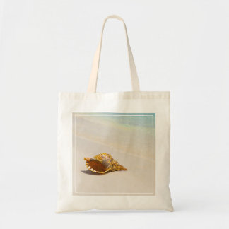 Conch Shell On Beach 3 Tote Bag