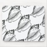 Conch Shell Sketch Mouse Mat