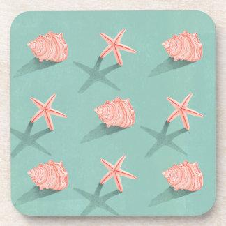 Conch & Starfish Coaster