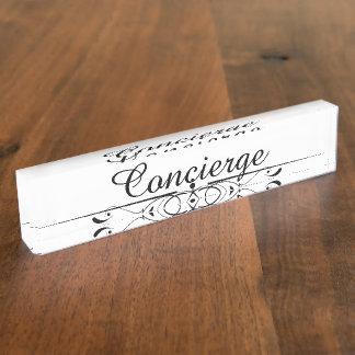 Concierge Name Plate