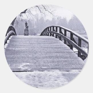 Concord Bridge Round Sticker