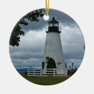 Concord Point Lighthouse Round Ceramic Decoration