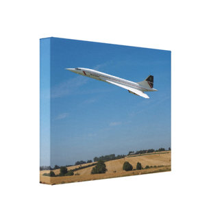 Concorde at Harvest Time Canvas Print