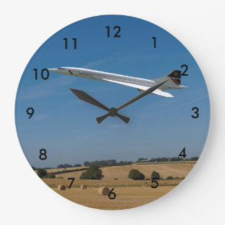 Concorde at Harvest Time Large Clock