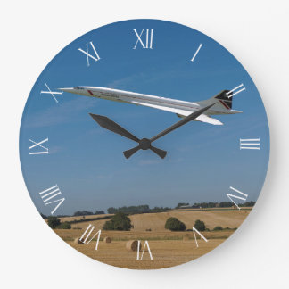 Concorde at Harvest Time Roman dial Large Clock
