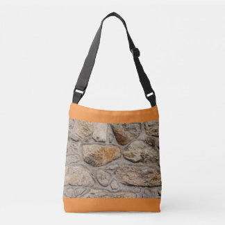 concrete and stone wall on  Cross Body Bag
