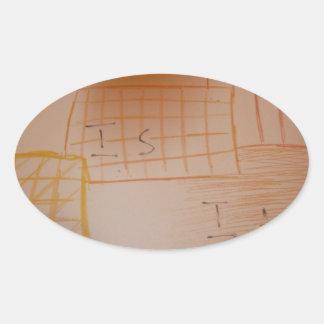 Concrete by idea oval sticker