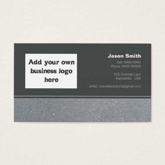 Concrete Constructions Commission Design Template Business Card