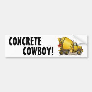 Concrete Cowboy Concrete Truck Bumper Sticker