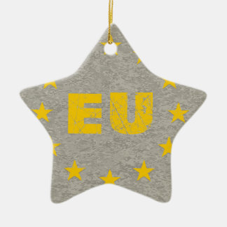 Concrete EU Flag Christmas Ornament