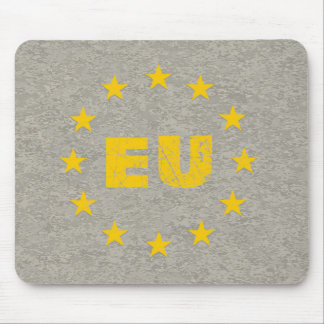 Concrete EU Flag Mouse Mat