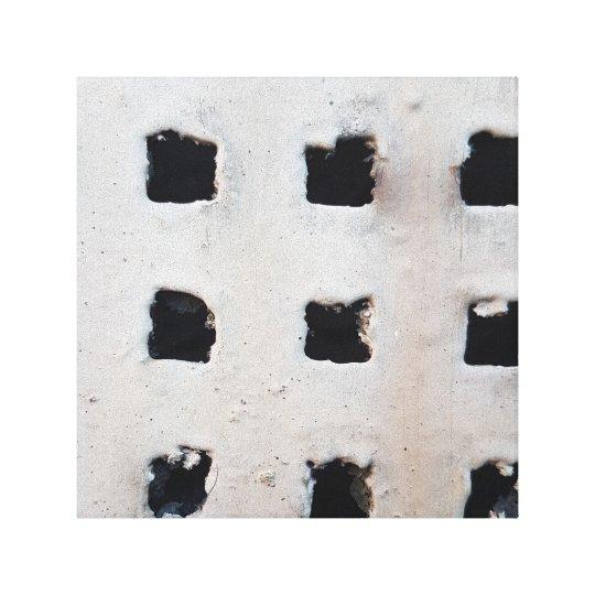 Concrete Industrial Air Vent Canvas Print