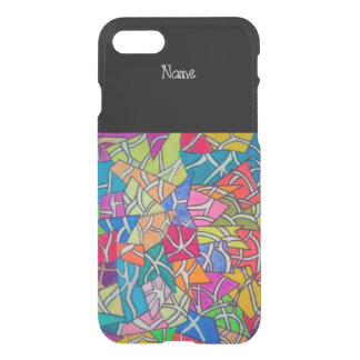 concrete jungle abstract art iPhone 7 case