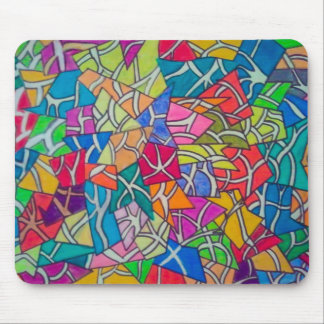concrete jungle abstract art mouse pad