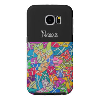 concrete jungle abstract art samsung galaxy s6 cases