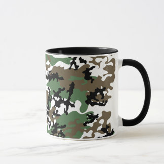 Concrete Jungle Camo Glass Mug