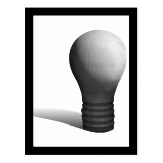 Concrete Light Bulb Postcard