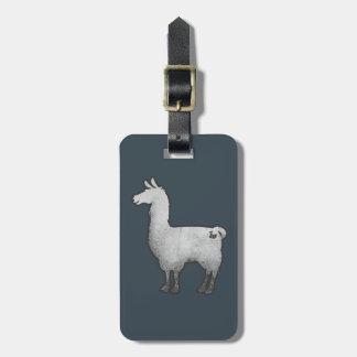 Concrete Llama Luggage Tag