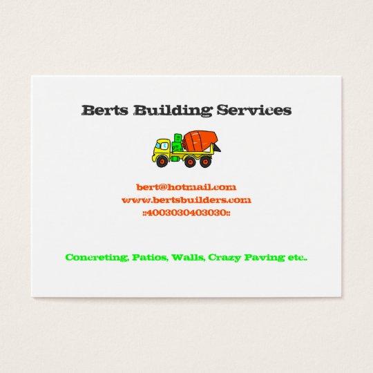 Concrete Mixer Business Cards