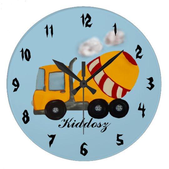 Concrete mixer large clock