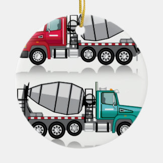 Concrete mixer Truck Christmas Ornament
