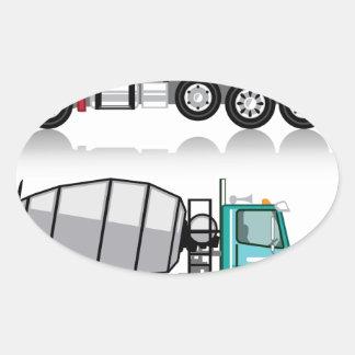 Concrete mixer Truck Oval Sticker