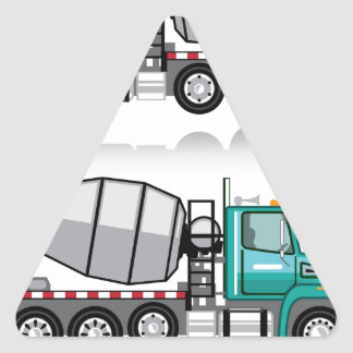 Concrete mixer Truck Triangle Sticker