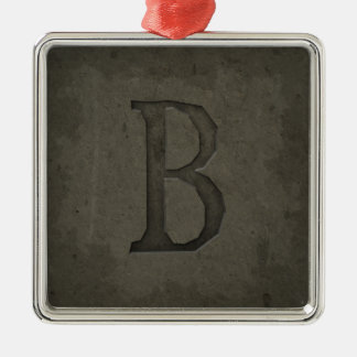 Concrete Monogram Letter B Christmas Ornament