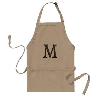 Concrete Monogram Letter M Standard Apron