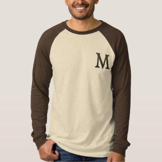 Concrete Monogram Letter M Tshirts