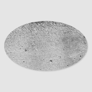 Concrete Oval Sticker