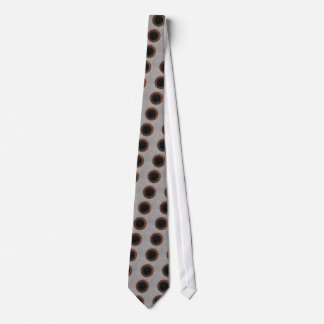 Concrete, Rusted Iron, and Black Marble Abstract Tie