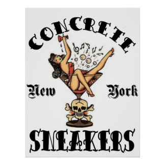 CONCRETE SNEAKERS TATTOO LOGO POSTER