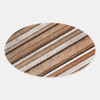 Concrete Stone Texture Oval Sticker
