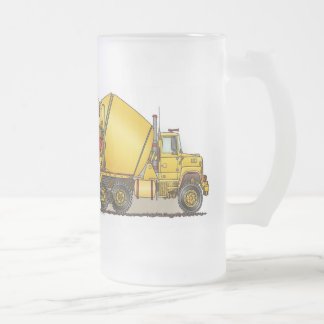 Concrete Truck Glass Mug