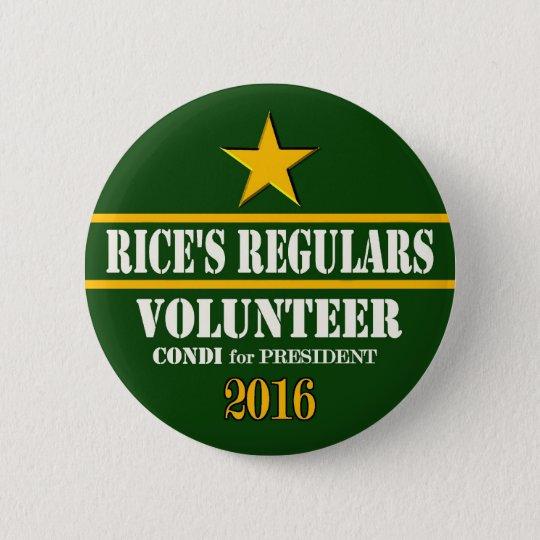 Condeleeza Rice President 2016 6 Cm Round Badge