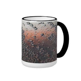 Condensed water drops 15 oz ringer mug