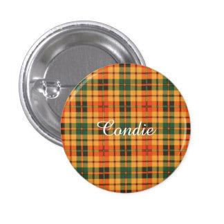 Condie clan Plaid Scottish kilt tartan 3 Cm Round Badge
