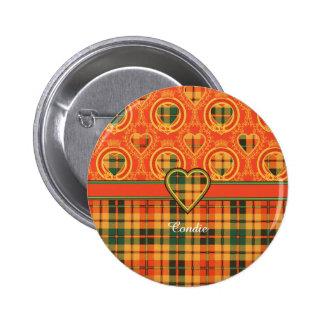 Condie clan Plaid Scottish kilt tartan 6 Cm Round Badge